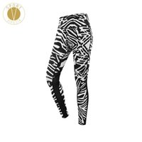ingrosso pantaloni yoga pura-Zebra Print Mesh Sports Leggings - Treno da corsa per donna Gym Yoga Outdoor fantasia Sheer Leisure Style Pantaloni lunghi Collant Activewear