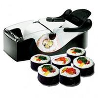 cortador mágico de cocina al por mayor-DIY Sushi Roller Cutter Perfect Machine Roll Maker Magic Kitchen Tool Gadgets K32
