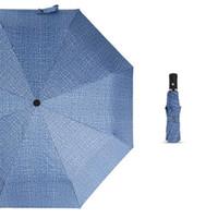 paraguas plegable doble negro al por mayor-