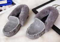 ingrosso suola di scarpone femminile-Scarponi da donna in pelliccia femminile da donna, in omaggio, in una sola edizione, aggiungono scarpe in lana di lana, lana invernale, maomao, stivali invernali, stivali alti, stivali da neve al ginocchio.