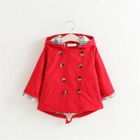 vêtements enfant coréen achat en gros de-Le manteau de dessin animé de la jolie veste pour enfants revêt des vêtements de style coréen solides pour les enfants de 3 à 8 ans.