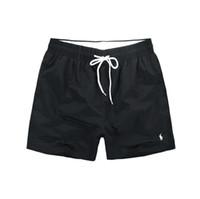 pantalones de baño de playa al por mayor-2018 Pantalones cortos de los hombres al por mayor de la marca de fábrica de la ropa del traje de baño de los hombres de Nylon Shorts de la playa de la marca pantalones cortos de la tabla de la nadada del desgaste del caballo pequeño M-XXL
