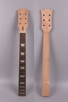 Wholesale Guitar Neck Style - New electric guitar neck replacement 22 fret 24.75 inch Mahogany wood Rosewood Fretboard Truss rod Bolt on style