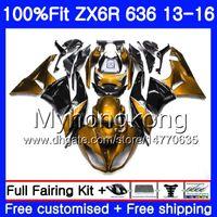 ninja 636 ouro preto venda por atacado-Injeção Ouro preto novo Para KAWASAKI NINJA ZX-636 ZX 6R 2013 2014 2015 2016 207HM.47 ZX636 Corpo 600CC ZX 636 ZX-6R ZX6R 13 14 15 16 Carenagem