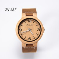 Wholesale Wood Wrist Watch Mens - Bamboo watch Natural Wood Watch for Gentlemen Japan Quartz Movement Mens Wooden Wrist Watches with Black Sandalwood