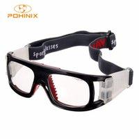 yeni güvenlik gözlükleri toptan satış-Yeni Basketbol Futbol Futbol Spor Koruyucu Gözlük Elastik Bisiklet Gözlük Açık Spor Güvenlik Gözlükleri 4 Renkler