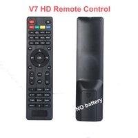 v7 tv toptan satış-V7 HD, V7 Max, V7 Combo Uzaktan kumanda ile akıllı tv uydu alıcısı uzaktan kumanda