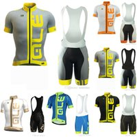 Wholesale road touring bikes - ALE team Jerseys Set Bicycle Tour Road Racing Cycling Short Sleeves jersey (bib) shorts sets summer bike ropa ciclismo hombre E60804