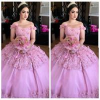 alter 12 kleider großhandel-2018 neue Sheer One Shoulder Ballkleid Quinceanera Kleider Benutzerdefinierte 3D Floral Geschmückten Perlen Prom Party Kleider Vestidos De Quinceanera 16 Alter