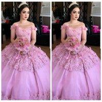 robes de 12 ans achat en gros de-2018 nouvelle robe de bal pure une épaule Quinceanera robes 3D personnalisé floral décorée perlée robes de soirée de bal robes de mariée de 16 ans