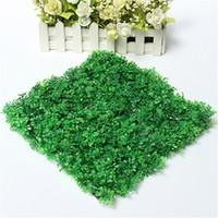 ingrosso erba di prato di plastica-25X25cm verde erba plastica artificiale serbatoio di pesce ornamento pianta acquario prato decorazione erba artificiale tappeto erboso