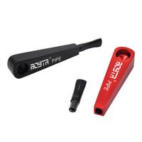 marca de aluminio al por mayor-BOBTR Signo de exclamación Aluminio Metal Fumar Pipe 106 MM Metal Bowl Pipe Para Herb Tabaco Accesorios para fumar