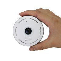 mini wifi ip kamera weiß großhandel-Mini 960P WiFi Panorama Kamera 360 Grad Fisheye IP Kamera Home Security Überwachung CCTV Kamera weiße Farbe