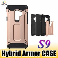 Wholesale ace plus casing - For Samsung S9 Armor Case Shockproof Tough Havy Duty Rugged Hybrid Dual Layers Cellphone Cases for Samsung A7 J1 ACE J6 2018 Covers