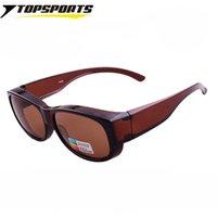 подходят солнцезащитные очки оптовых-TOPSPORTS Мужчины Женщины Fit over поляризованные солнцезащитные очки Спорт ВС вождения Рыбалка очки Fit Over очки Солнцезащитные очки