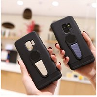 Wholesale Magnetic Slim - For Iphone X 8 7 Plus Samsung Galaxy Note 8 S9 Plus Slim TPU Magnetic Cases With Kickstand Holder Back Cell Phone Covers