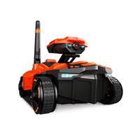 aplicación de juguetes controlados al por mayor-EBOYU (TM) ATTOP YD-211 Wifi FPV cámara de 0.3MP RC Car Remote Tank tanque RC Robot Tank Toy Toy teléfono controlado robot