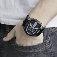 Wholesale military clock time - DZ Watches Luxury Men's Sports Quartz Watches For All Man Military Multi Time Zones Atmos Clock Fashion Leather Relogio masculino Montre