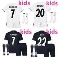 Wholesale boys youth shirts - Real Madrid soccer jerseys 18 19 kids home away soccer jersey kits youth boys child jerseys kits 2018 2019 RONALDO ISCO football shirts set