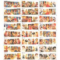 ingrosso pittura a olio delle ragazze di modo-UPREEGO 12 PACK / LOT DECORAZIONE ACQUA NAIL ART ADESIVO NAIL SLIDER COPERTURA COMPLETA FASHION GIRL POP SEXY LADY OIL PITTURA UP13-24