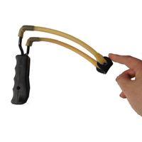 ingrosso giocattolo di slingshot di plastica-New Elastico Bungee Rubber Band Slingshot Caccia Slingshot Manico in plastica Ferro Fionde Tubo in lattice Competitivo Catapulta Giocattoli