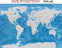 Scratch Map Oceans Vintage Deluxe Home Decor Mapa mundial Wallpaper Juguetes Regalos Viajes Scratch para Mapa 81.5 * 57.5CM KKA3593