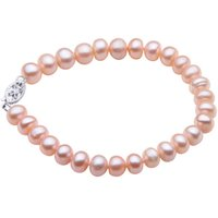 cultured pearls strands UK - YYW Natural Freshwater Cultured Pearl Bracelet Wedding Jewelry Pink Button Pearl Beads 6 7mm Bridal Birthday Bracelets