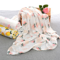 Wholesale color girl bedding online - Baby Photography Wrap Flamingo Baby Receiving Blanket Girls Stroller Cover Sleep Mat Bedding Wrap Newborn Infant Swaddle Blanket