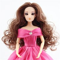 Wholesale 3d Real Dolls - Doll Head for kids girls boys 3D real eyes Acrylic eyes DIY Accessories For baby Dolls head DIY Toys