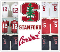 Wholesale Andrew Christian Men - NEW NCAA Stanford Christian McCaffrey 5 Andrew Luck 12 John Elway 7 College STITCHED JERSEY FOOTBALL SPORT MEN HOT SALE CHEAP