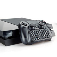 controlador de playstation bluetooth al por mayor-Teclado de mensaje inalámbrico Bluetooth Chatpad para Sony para PlayStation 4 para PS4 Controller Negro Con paquete minorista