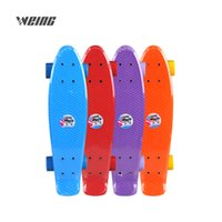 зеленые скобки оптовых-WEING imported new steel pipe bracket blue  orange green four color PU fruit wheel fish skateboard