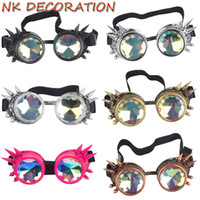 Wholesale steampunk mask for sale - NK DECORATION Kaleidoscope Goggles Steampunk Punk Gothic Kaleidoscopic Cosplay Glasses For Halloween Carnival Party Mask