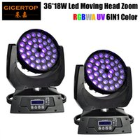 Wholesale head throw - TIPTOP Stage Wash Zoom 450W Powerful LED Light Moving Head With 18W Quad Color RGBWA+UV Leds+Zoom For Short-Throw Or Longthrow