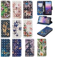Wholesale iphone 7s wallet case online - 3D Effect Elephant Butterfly Flower PU Leather Wallet Flip Case For Huawei P10 P20 Mate Lite Pro Enjoy S P Smart Plus Honor A C Y5