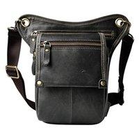 klasik alet çantaları toptan satış-Vintage Hakiki Deri Kemer Bacak Uyluk Bel Fanny Paketi erkek Omuz Çantası Kamera Aracı Setleri Organize Çanta Cep Telefonu Kılıfı