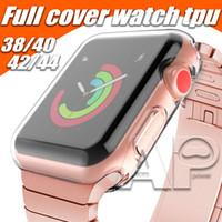 protector de pantalla apple watch 42mm al por mayor-Para el estuche iWatch 4 40mm 44mm 38mm 42mm Cubierta de TPU suave transparente Serie 1 2 3 Protector de pantalla para Apple Watch 4