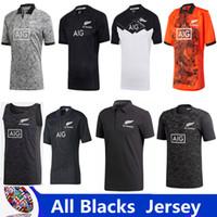 tamaño rojo de los jerseys al por mayor-2019 Nueva Zelanda All Blacks jersey 2017 2018 Season top Tailandia calidad hogar lejos rojo hombres All Blacks Rugby Football Shirt tamaño S-3XL