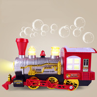 çocuklar için elektrikli oyuncaklar karikatür toptan satış-Kabarcık Tren müzikal elektrikli kabarcık üfleme makinesi Çocuk oyuncakları için Gerçekçi karikatür ışık oyuncak