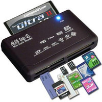 Wholesale sd mmc sdhc - All in One Memory Card Reader USB External SD SDHC Mini Micro M2 MMC XD CF Black High Quality