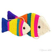 tabla de rascar al por mayor-Fish Shape Cat Scratch Board Mint Sisal Simulation Fishes Artificial Lovely Cartoon Grinder Plate Mascotas Juguetes 9 5jn2gg