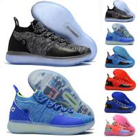 best website c24b7 7fb43 Enfants KD 11 Multi couleur chaussures à vendre Top Qualité Kevin Durant  Basketball chaussures en gros magasin livraison gratuite US5-US12