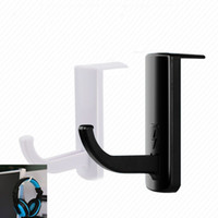 Wholesale tool monitor online - Creative Headphone Holder Practical Plastic Wall PC Monitor Hooks Long Service Life Headset Storage Stands Black White jq BB
