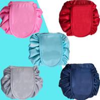 ingrosso deposito di trucco del bagno-Lazy Cosmetic Bag Portable Beauty Drawstring Borsa da viaggio Trucco Storage Cosmetic Makeup Organizzatori da bagno Borse OOA4378
