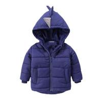 erkek ceketleri toptan satış-2 renk! Boys Ceket kış ceket Çocuk giyim kış tarzı 2-6 yıl için bebek Goys ve Kızlar Sıcak Coat Giysileri