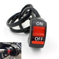 Wholesale Atv Light Switch - DHL 100PCS Motorcycle ATV Bike Handlebar On OFF Kill Switch Hazard Fog Spot Light Accident