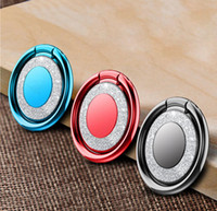accesorio de anillo de bling al por mayor-Soporte de anillo de dedo de Bling universal para iPhone X Samsung S9 cubierta del teléfono móvil soporte de escritorio soporte de soporte de metal soporte de escritorio