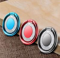 telefone de mesa venda por atacado-Universal bling anel de dedo titular para iphone x samsung s9 case capa do telefone móvel suporte acessórios de mesa doca de metal suporte de montagem