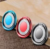 metall schreibtisch telefonhalter großhandel-Universal Bling Fingerringhalterung für iPhone X Samsung S9 Hülle Handy Ständer Zubehör Desk Dock Metall Halterung