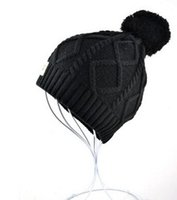 Wholesale Red Hot Skull - Hot Winter Autumn brand UG designer beanies knitting knitted hats cap for men women U style warm with pom pom